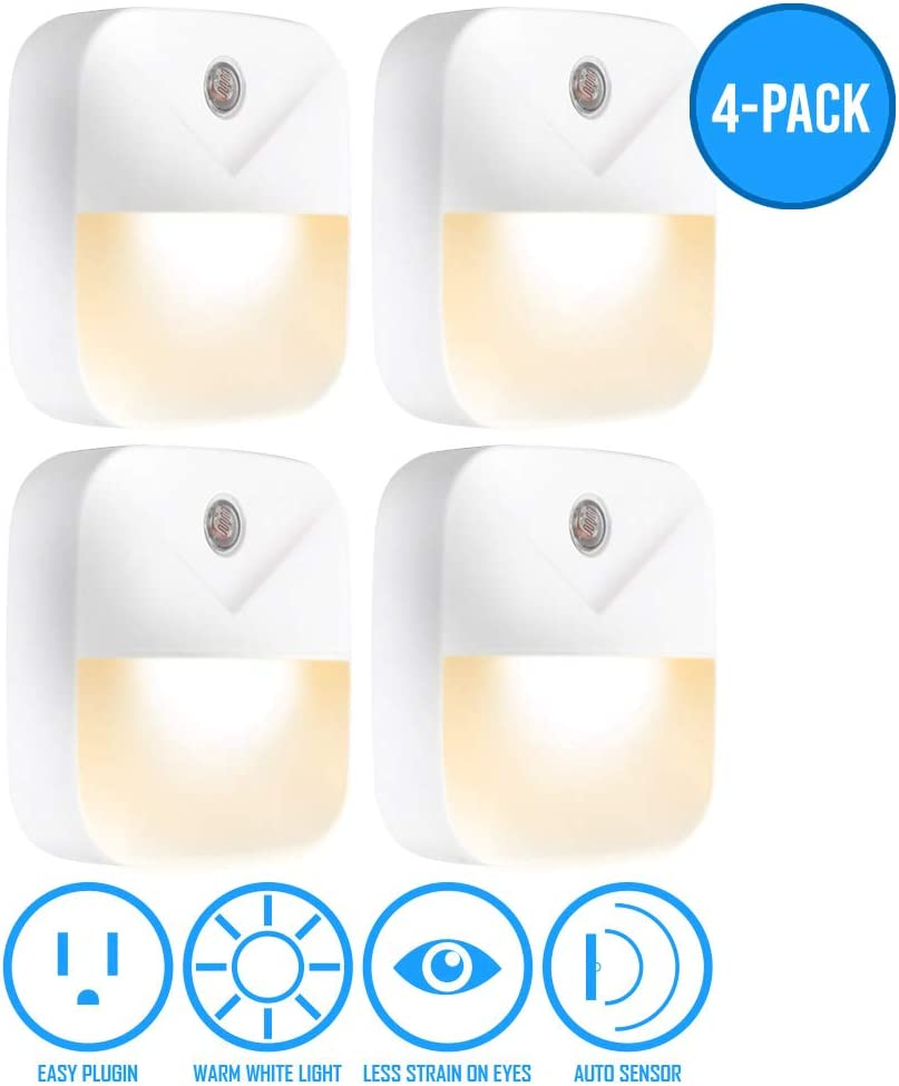 AULTRA Smart Night Light Plug - Smart Light Bulb Wall Plug with Motion Sensor Activated & Automated On and Off Switch Used for Kitchen Decor, Bathroom Lights, Home Improvement, LED Lights for Bedroom