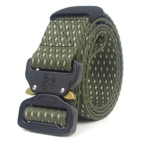 (OutdoorZhShi Military Tactical Nylon Men Metal Buckle Belt SWAT Police Army Jeans Belts only belt1 125cm)