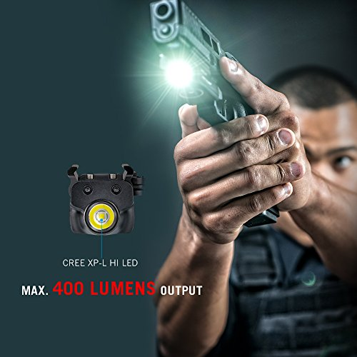 OLIGHT PL-Mini Valkyrie 400 Lumens Rechargeable Pistol Light with Cree LED and Magnetic USB Charger, Bundle GrapheneFast Battery Case by OLIGHT (Image #2)