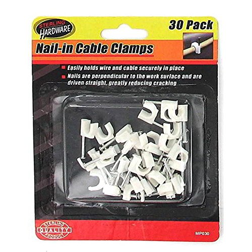 48 30 Pack nail-in cable clamps by Generic