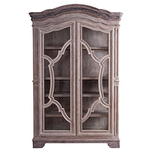 (Kathy Kuo Home Dupont French Country Rustic Wood Wardrobe Cabinet)