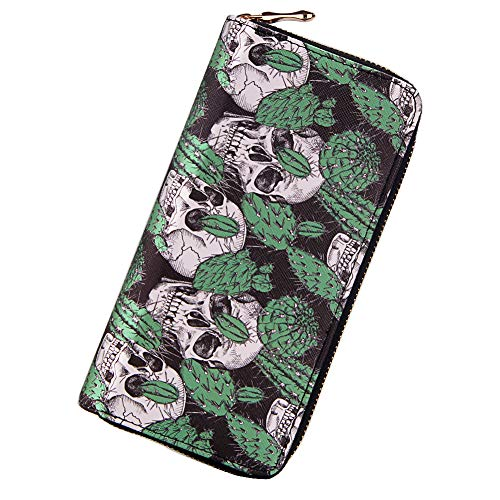 Badiya 3 Pretty Sugar Skull Wallet for Women Vintage Clutch Bag for $<!--$9.18-->
