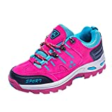 Sport Shoe, Shybuy Men & Women Casual Outdoor Walking Shoes Fashion Lace-up Hiking Running Mountaineering Shoes (6, Hot Pink)