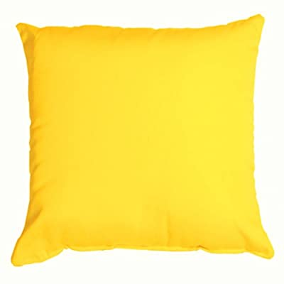 Essentials by DFO Sunflower Yellow Sunbrella Outdoor Throw Pillow (16 in. x 16 in.): Home & Kitchen