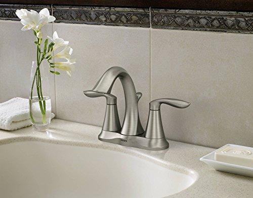 Delta Porter 4 In Centerset 2 Handle Bathroom Faucet With: Moen 6410BN Eva Two-Handle Centerset Lavatory Faucet With