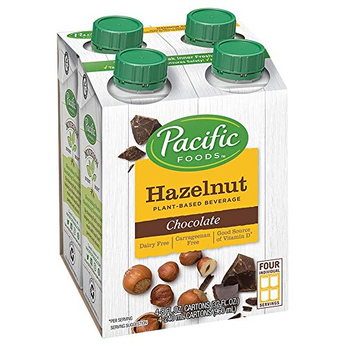 Pacific Foods Hazelnut Chocolate Plant-Based Beverage, 8oz, 24-pack