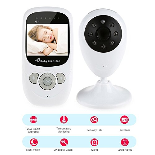 Partition Displays (iLifeSmart SP880 2.4G Wireless Baby Video Monitor, With Night Vision Two-way Talk 2.4 inch LCD Display Baby Monitor, Temperature Monitoring, for Baby,Pet, Old People)