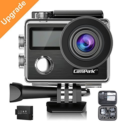Campark X20 Action Camera 4K 20MP Touch Screen Waterproof Video Cam Underwater Camcorder with EIS, Dual Screen, Remote Control Update Version