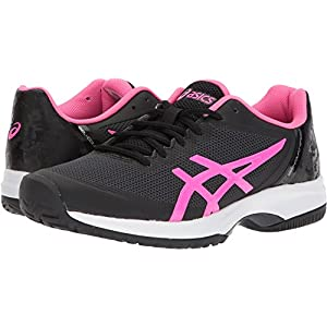 ASICS Womens Gel-Court Speed Sneaker, Black/Hot Pink/White, Size 7.5