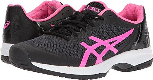 ASICS Womens Gel-Court Speed Sneaker, Black/Hot Pink/White, Size 9.5