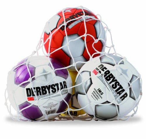 Derbystar Handball Nylon-Ballnetz/10 Bälle, Weiss