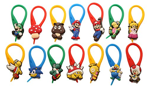 [AVIRGO 14 pcs Colorful Soft Zipper Pull Charms for Backpack Bag Pendant Jacket Set # 69-4 by Hermes] (Mario Luma Costume)
