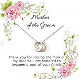 OnePurpose Mother of the Bride/Groom Gifts (Silver Cubic Zirconia Pendant Groom)