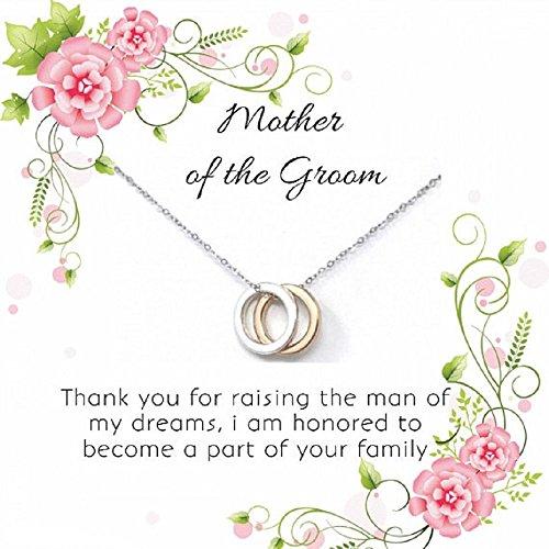 OnePurpose Mother of The Bride/Groom Gifts (Silver Cubic Zirconia Pendant Groom)