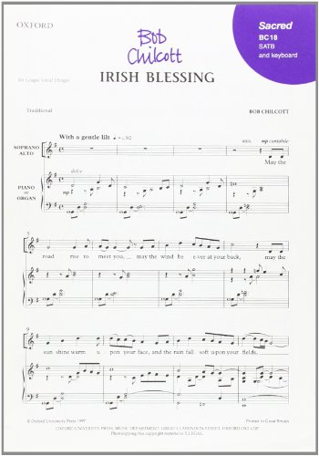 Irish Blessing: SATB Vocal Score