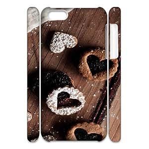 3D IPhone 5C Case Coffee Heart, IPhone 5C Case Heart & Love, [White]