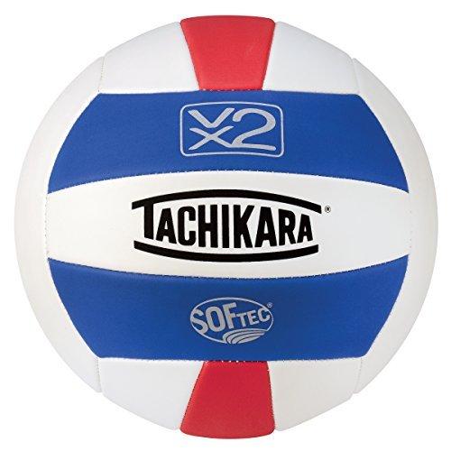 Tachikara SofTec VX2 Volleyball Royal/White/Scarlet [並行輸入品] B06XFVWKYT