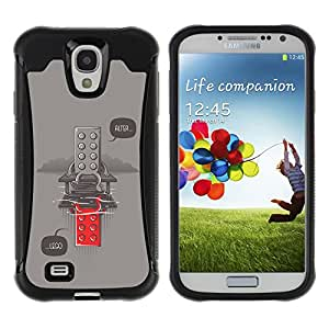 Be-Star único patrón Impacto Shock - Absorción y Anti-Arañazos Funda Carcasa Case Bumper Para SAMSUNG Galaxy S4 IV / i9500 / i9515 / i9505G / SGH-i337 ( Funny Alter Toy Message Hipster )