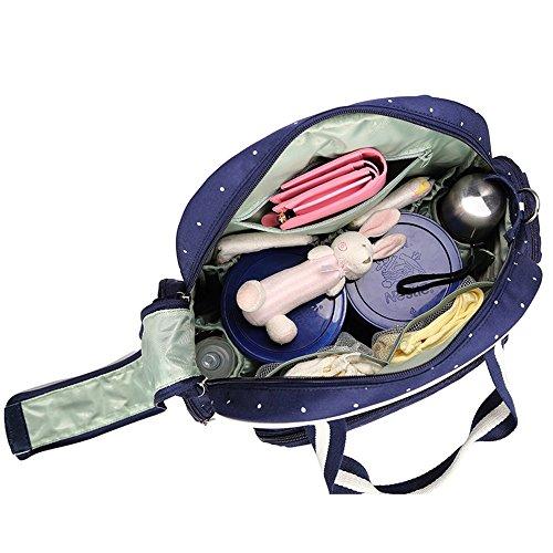 Global- Las mujeres embarazadas de moda multifunción de poliéster de la mamá bolsa de paquete de Madre de gran capacidad Saliendo mochila