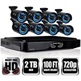 Night Owl HD 720p 16 Channel AHD Security System with 8 x 720p Cameras with 100ft of Night Vision and 2 TB HDD