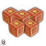 Q-Workshop: Five d6 Dice - ORC Battle Dice (Red & Yellow)