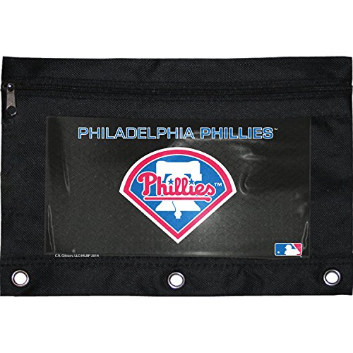 C.R. Gibson Polyester Zippered Fabric Pencil Pouch, Liscensed By MLB, Measures 9.75