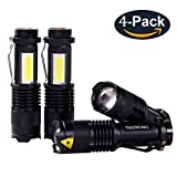 YAOMING Mini Small LED Taclight Lantern Flashlight ,Por Camping Lantern for Home Emergency Use, Hurricane, Outage or Gift-Giving (4 Pack)