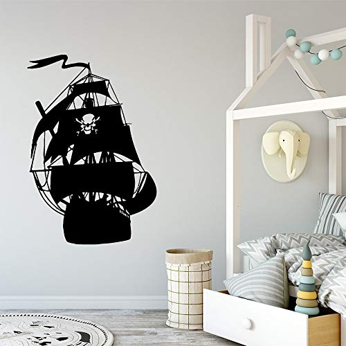 Giaou Wall Art Decal Sticker Words Wall Saying Words Removable Mural one Piece Pirate Boat House Decor for Kids Rooms Decoration Background]()