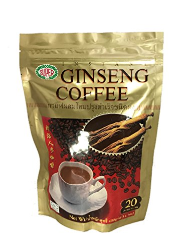 - Super Instant Coffee, Ginseng, 20-Count