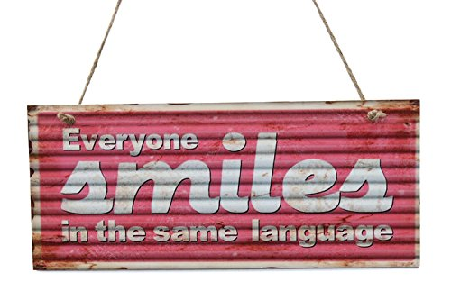 Everyone Smiles In The Same Language Wood Sign By meijiafei
