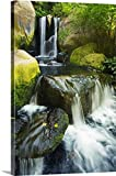 Ron Dahlquist Premium Thick-Wrap Canvas Wall Art Print entitled Hawaii Maui, Makena, Waterfall 32''x48''