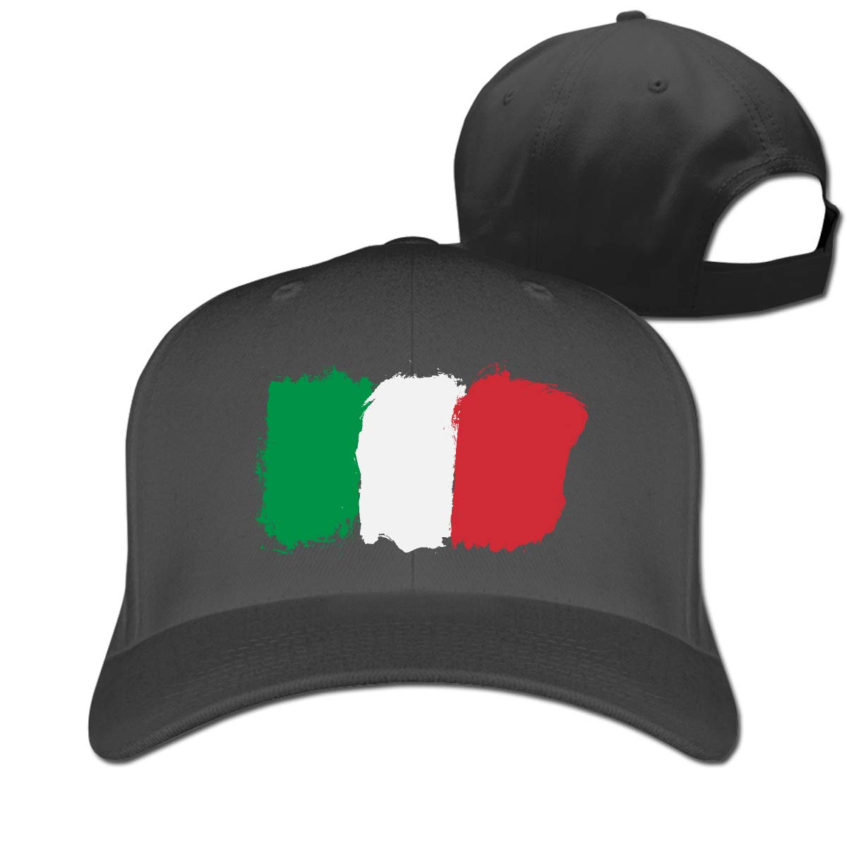Italian Flag Classic Adjustable Cotton Baseball Caps Trucker Driver Hat Outdoor Cap Fitted Hats Dad Hat Black