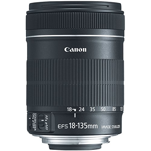 Canon EF-S 18-135mm f/3.5-5.6 IS Standard Zoom Lens for Canon Digital SLR Cameras (New, White box) ()