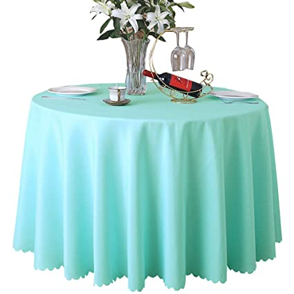 70 Inch Round Table Cloth.Round Tablecloth 70 Inches Circular Table Cover Polyester Machine Washable Circle Table Cloth For Buffet Table Wedding Parties Banquet Dinning Room