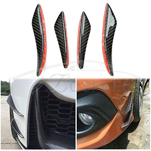 Bospeed TY-FLD-C 4pcs/set C Style Carbon Fiber Front Bumper Lip Kit /Canard/for AUDI,BENZ,BMW