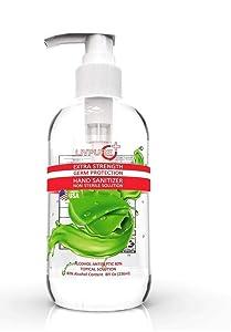 LivPure Extra Strength 8 fl oz (236ml) Hand Sanitizer With Pump, Contains 80% Alcohol, Made in USA.