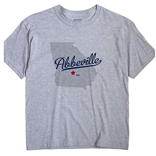Abbeville Georgia GA MAP GreatCitees Unisex Souvenir T Shirt