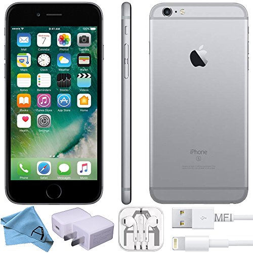 Apple iPhone 6s Factory Unlocked GSM 4G LTE Smartphone (Certified Refurbished) (Space Grey, 64GB)