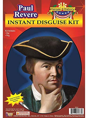Forum Novelties Men's Heroes In History Instant Disguise Kit Paul Revere, Multi, One Size