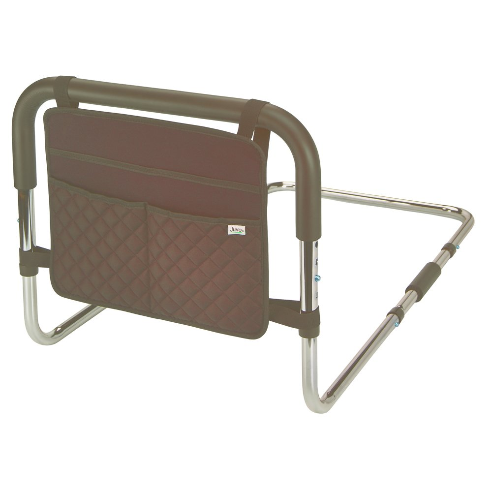 Juvo Product Adjustable Bed Safety Rail with Storage Caddy (BSR101)