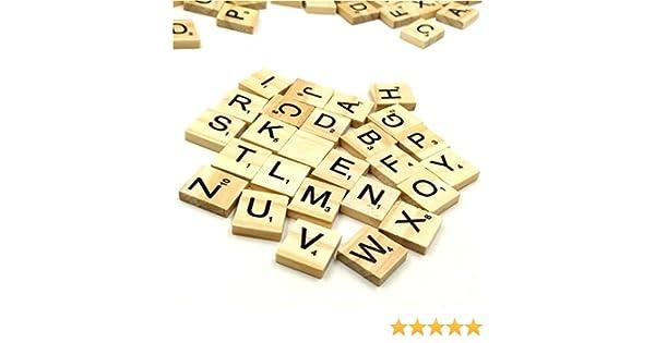 Trimming Shop Set of 200 Madera Fichas De Scrabble para el Tablero Juegos, Decoración De Pared & Artes y Manualidades by Pack of 800: Amazon.es: Hogar