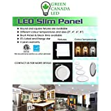 Promotion 20% OFF - Green Canada LED -4-Inch LED Slim Panel /Recessed Pot light 9W = 60W, 750 Lm, 120V Round Black Trim Dimmable - Energy Star - cUL Certified IC Rated - 5 Years Warranty - Set of 40 PCs - (Cool White 5000K)
