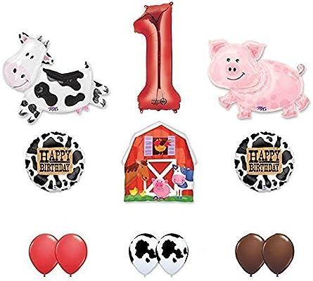 Amazon.com: Barn animales de granja 1st fiesta de cumpleaños ...