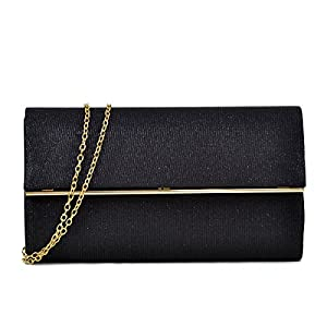 Women's Evening Bag Glitter Clutch Wedding Bridal Purse Sparkle Cocktail Party Prom Handbag