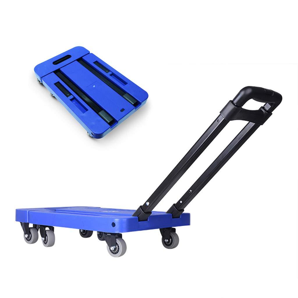 収穫台車キャリー 折りたたみ式トロリーサックトロリー道具カート引く貨物の荷物万能車輪の買物車買物をする小さいカート多機能携帯用トロリー、約200KGベアリング (Color : Blue, Size : 47*30*91cm) B07MSBZKZZ Blue 47*30*91cm