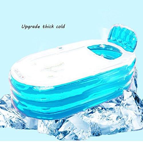 Ren Chang Jia Shi Pin Firm Freestanding Bathtubs Adult Folding Blue Inflatable Bathtub Bucket Household Bathtub Fill Children's Bathtub Plastic Bathtub (Color : Blue Foot Pump, Size : 1307766cm) by Ren Chang Jia Shi Pin Firm (Image #4)
