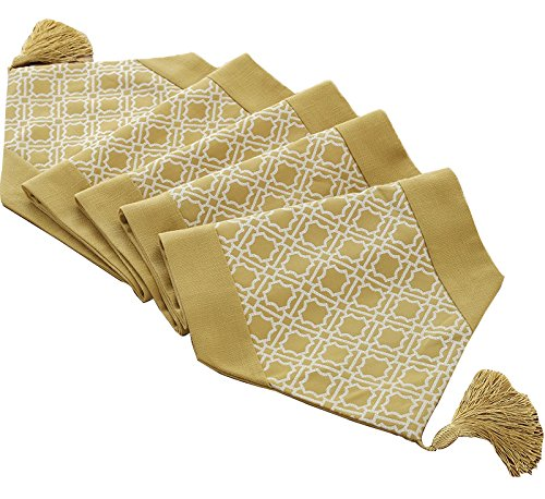 Yoovi Quatrefoil Trellis Moroccan Pattern Table Runners with