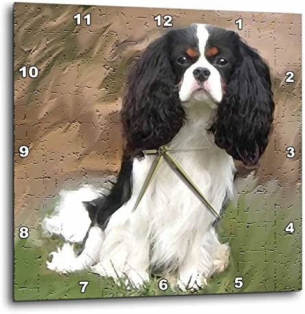 3dRose LLC Cavalier Spaniel 10 by 10-Inch Wall Clock