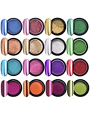 Lurrose Dip Powder Nails DIY Art for Girls Women Home with 16 Colors and 16pcs Sticks
