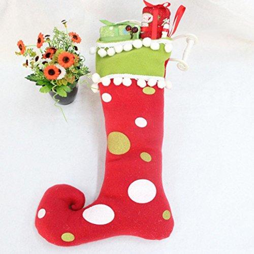 TOPUNDER Christmas Boots Tree Hanging Decor Santa Claus